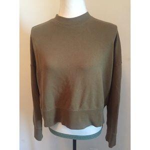 🍀 Forever 21 Olive Green Boho sweatshirt SZ L